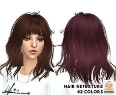 Newsea Hair retextures at Miss Paraply via Sims 4 Updates