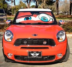 Custom Made Mini Cooper Eyes Sunshade - Eyeshade