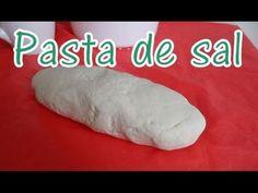 Como hacer Pasta de sal 3 ingredientes! Sustituto de arcilla polimerica - YouTube