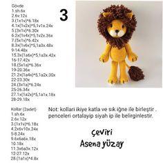 Crochet Lion, Crochet Cat Pattern, Crochet Animal Patterns, Stuffed Animal Patterns, Crochet Patterns Amigurumi, Baby Knitting Patterns, Crochet Animals, Crochet Dolls, Crochet Disney