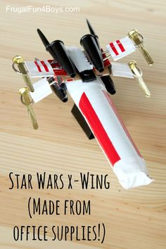 How to Make a Star Wars X-Wing out of Office Supplies