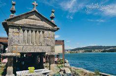 hórreos (granaries) in Combarro, Galicia, Spain