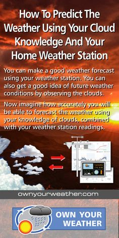 We take you through the process of identifying different cloud types and combine them with your home weather station data to make better weather forecasts.