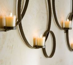 Circles Wall-Mount Votive Holder, Antique Bronze finish