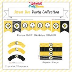 Sweet Bee Party Printables