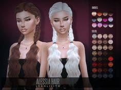 Sims 4 Hairs ~ The Sims Resource: Alessia Hair by LeahLillith Sims 4 Tsr, Sims Cc, Sims 4 Mods, Pelo Sims, The Sims 4 Cabelos, Die Sims, Sims 4 Cc Kids Clothing, Sims 4 Children, Sims 4 Gameplay