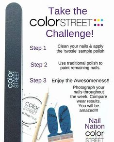 Color Street nail polish strips are so easy to apply. Look