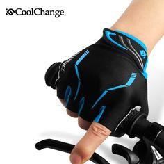 CoolChange Fingerless Cycling Gloves Half Finger Men Sport Gloves Moto Moutain Bike Gloves Padded Guantes Ciclismo Bike Gloves