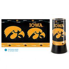 Iowa Hawkeyes Rotating Lamp