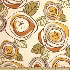 Luna Desert cotton upholstery fabric curtains by MaterialMadness, $8.25