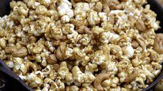 Macadamia Butter-Crunch Popcorn Recipe | Martha Stewart