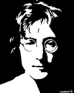 John Lennon painting hand painted acrylic piece of by MONOFACES, €70.00