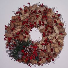 Wine Cork Wreath, pretty to look at...fun to get the supplies for it!!