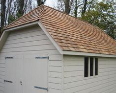 Suffolk timber garage - close up