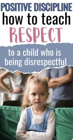Parenting For Dummies, Kids And Parenting, Teaching Kids Respect, Child Teaching, Disrespectful Kids, Respect Parents, Positive Discipline, Child Discipline, Prayer For My Children