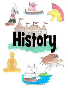 and Printable Covers A printable history notebook cover for kids to slip in their binder, from Layers of Learning.A printable history notebook cover for kids to slip in their binder, from Layers of Learning. Diy Notebook Cover For School, Science Notebook Cover, School Binder Covers, Notebook Cover Design, Notebook Covers, Social Studies Notebook, 6th Grade Social Studies, Binder Cover Templates, School Clipart