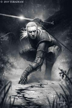 The Witcher 3 – Geralt of Rivia, Teresa Ramos The Witcher Books, The Witcher Game, Witcher 3 Wild Hunt, Witcher 3 Geralt, Witcher Art, Witcher Monsters, Witcher Tattoo, Witcher Wallpaper, Triss Merigold