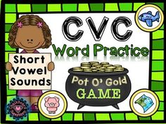 St+Patrick's+Day:+CVC+Short+Vowel+Sound+Sorting+Game.This+game+is+a+fun+and+engaging+Literacy+Center+to+set+up+for+St+paddy's+day.++This+comes+with+5+vowel+sound+mats,+5+pages+of+vowel+sound+coins.++Students+must+sort+all+the+coins+(45)+and+record+their+answers+on+the+student+record+sheet.