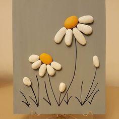 12x15 cm. #tasboyama #tastasarim #stone #stoneart #stonepainting #paint #lesfleurs #cicekler #papatyalar #handmade #bitki #elyapimi #dekorasyon #evdekorasyonu #kisiyeozelhediye #gift #art #tablo #doga #guzellik #satilik #siparisalinir