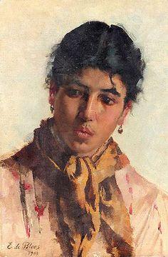 Női portré Eugene de Blaas