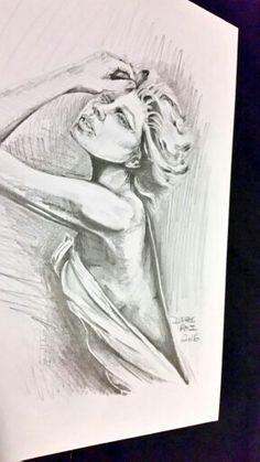Pencil sketch by Derae Rai portrait