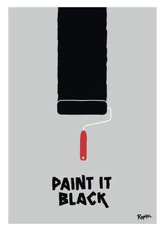 Top 15 des posters de titres de chansons, les Title Cover de Raphaël Bonan // Paint It Black - The Rolling Stones