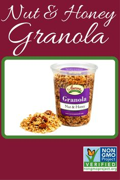 Nut & Honey Granola is now verified by the @nongmoproject ! #GMOFree #NonGMO   Buy it here: http://www.auroraproduct.com/product/granola-nut-honey-15-5-oz/