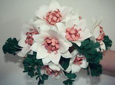 Grace  Small Paper Flower Bouquet  Cake Topper  by MaisonGregoria