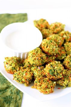 Cheese & Vegetable Quinoa Bites [The Curvy Carrot] // YES! And: YUM!