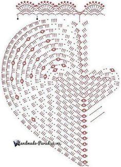 Knitting pattern for children's heart-mat Crochet Rug Patterns, Granny Square Crochet Pattern, Crochet Diagram, Doily Patterns, Crochet Squares, Crochet Chart, Crochet Motif, Crochet Doilies, Crochet Flowers