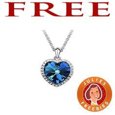 Free Heart of Ocean Necklace - Julie's Freebies Free Stuff By Mail, Get Free Stuff, Free Baby Stuff, Free Mail, Free Things, Cool Things To Buy, Coupons For Free Items, Cigarette Coupons Free Printable, Ocean Heart