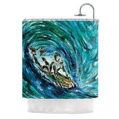 Sponge by Josh Serafin Shower Curtain