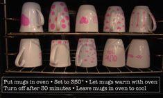 DIY Sharpie Mug Instructions