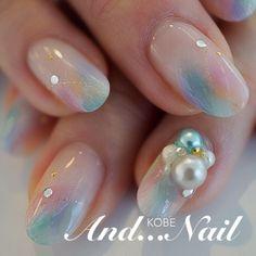 Cute Nail Art Ideas to Try - Nailschick Nail Polish Designs, Acrylic Nail Designs, Nail Art Designs, Cute Nail Art, Cute Nails, Pretty Nails, Water Color Nails, Elegant Nail Art, Japanese Nail Art