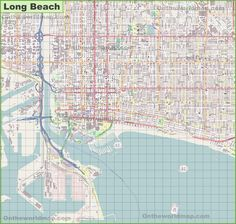 Long Beach location on the US Map Maps Pinterest Long beach
