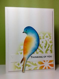 thinking of you Serene Bird card by beesmom - Cards and Paper Crafts at Splitcoaststampers