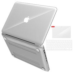 """iBenzer Basic Soft-Touch Series Plastic Hard Case, Keyboard Cover, Screen Protector for Apple Old Macbook Pro 13-inch 13\"""" with CD-ROM A1278, Crystal Clear ** You can find out more details at the link of the image."""