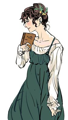 Ch 'Lizzy castigated herself for her poor reaction to Mr Darcy's advances on the previous day—she had behaved very much like a green girl which, for all her learning, she supposed she was. This pic -Elizabeth Bennet Elizabeth Gaskell, Charlotte Bronte, Regency Fashion, Darcy And Elizabeth, Elizabeth Bennett, Image Avatar, Ella Enchanted, Jane Austen Novels, Mr Darcy