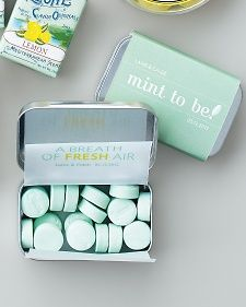Mint Tin Favor Wrapper and Lining Template - Martha Stewart Weddings Party favors