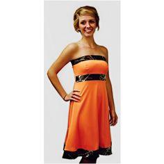Camo Wedding Bridesmaid Dresses | Blaze Orange Tabitha Dress
