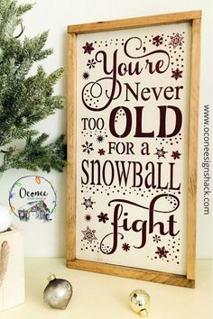 Looking for the perfect complement to your rustic Winter decor? You've found it in this unique, hand-painted framed Snowball Fight wood sign! It also makes a great gift for the young at heart. Click the pin to get one of these eye-catching signs today! Custom Wood Signs, Rustic Signs, Rustic Wood, Wooden Signs, Rustic Winter Decor, Winter Home Decor, Winter House, Winter Wood Crafts, Christmas Signs Wood