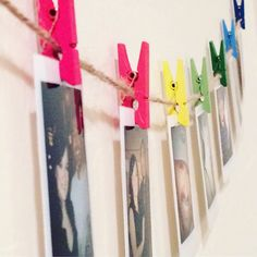 Custom Photo Twine and Peg Kit | Picture Twine & Clothespin Garland | Picture Bunting Set | Photo Bunting | Photo Garland | Picture Garland by NerdyBirdLLC on Etsy https://www.etsy.com/listing/494136627/custom-photo-twine-and-peg-kit-picture