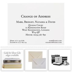 Change of Address Cards Classic layout from Honeytree Personalised Stationery that #CreateABuzz