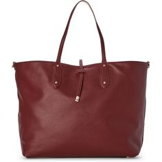 Under One Sky Wine & Bone Three-In-One Tote ($37) ❤ liked on Polyvore featuring bags, handbags, tote bags, red, handbags totes, oversized leather tote bag, faux leather tote bag, crossbody tote and cross-body handbag