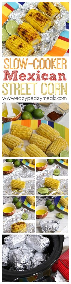 Corn seasoned and cooked in a slow cooker! Perfect for flavor without heating up the house! You will never want to cook corn any other way. Crockpot Dishes, Crock Pot Slow Cooker, Crock Pot Cooking, Slow Cooker Recipes, Crockpot Recipes, Cooking Recipes, Side Dish Recipes, Vegetable Recipes, Side Dishes