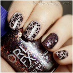 Orly Intergalactic Space + Colour Alike 491 Kamlot + acrylic paint #nails #nailart
