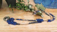 Un collier mi-long de style ethnique africain : Vague à l'Ame !!!!! : Collier par les-reves-de-minsy