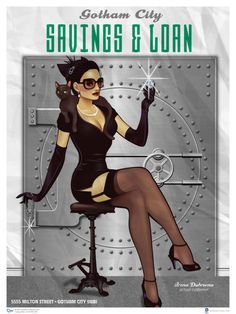 Show Your Love For DC Comics Heroines With These Dreamy 1940s Pin-Ups! Catwoman
