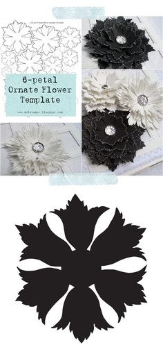 Free ornate flower cut file svg and template - from mel stampz