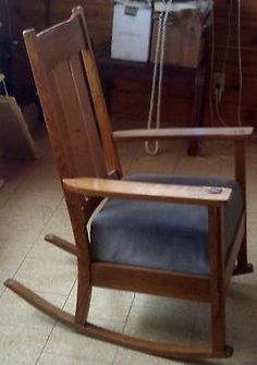 Antique Rocking Chairs For Sale Modern Leather Recliner Swivel Chair 2 104 Best Wheel Images Wheelchairs Vintage Arts Crafts Mission Design Oak Ebay